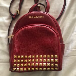 Michael Kors studded mini backpack